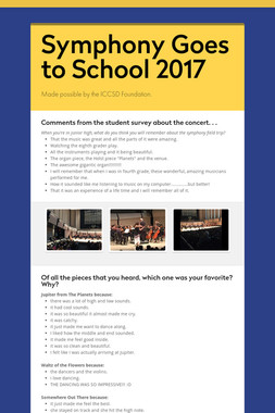 Symphony Goes to School 2017