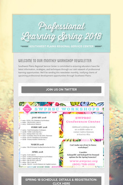 Professional Learning Spring 2018