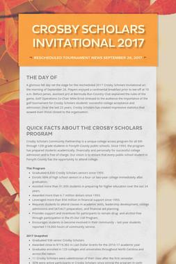 Crosby Scholars Invitational 2017