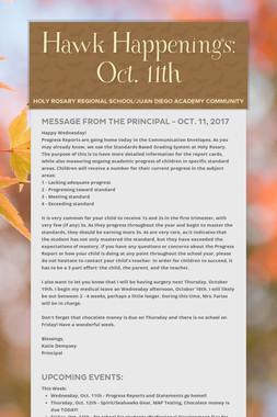 Hawk Happenings: Oct. 11th