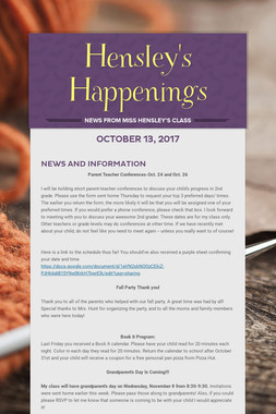 Hensley's Happenings