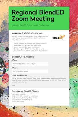 Regional BlendED Zoom Meeting