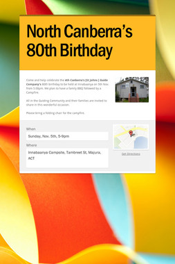 North Canberra's 80th Birthday