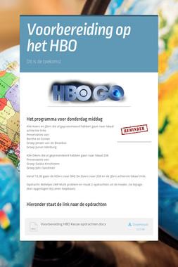 Voorbereiding op het HBO