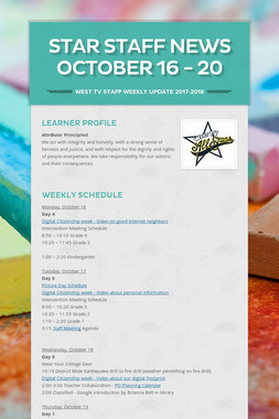 Star Staff News   October   16 - 20