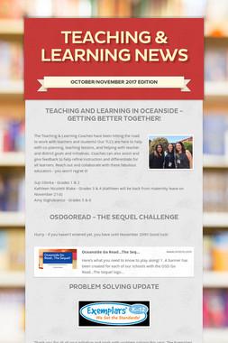 Teaching & Learning News