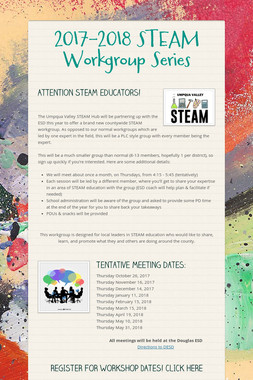 2017-2018 STEAM Workgroup Series
