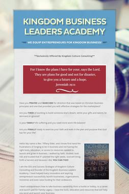 Kingdom Business Leaders Academy