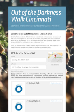 Out of the Darkness Walk Cincinnati