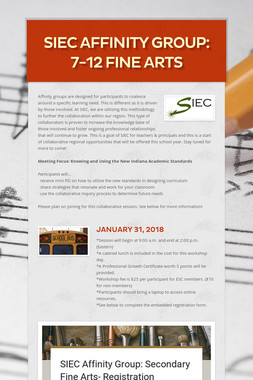 SIEC Affinity Group: 7-12 Fine Arts