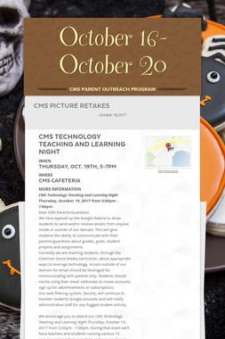 October 16-October 20