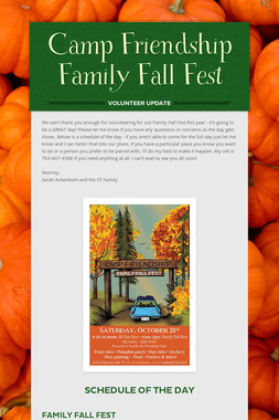 Camp Friendship Family Fall Fest