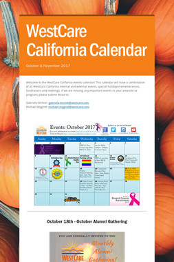 WestCare California Calendar