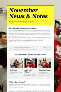 November News & Notes