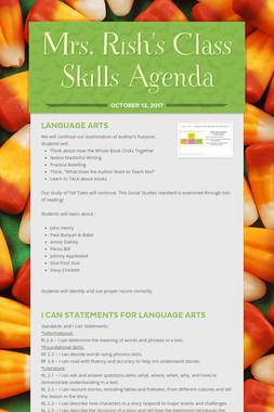 Mrs. Rish's Class Skills Agenda