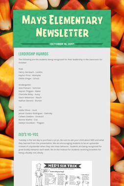 Mays Elementary Newsletter