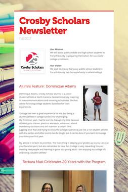 Crosby Scholars Newsletter