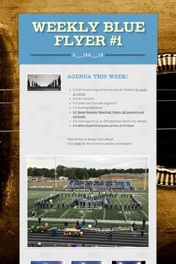 Weekly Blue Flyer #1