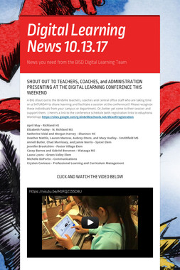 Digital Learning News 10.13.17
