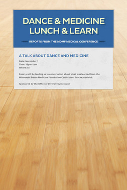 Dance & Medicine Lunch & Learn