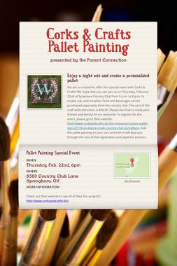 Corks & Crafts Pallet Painting