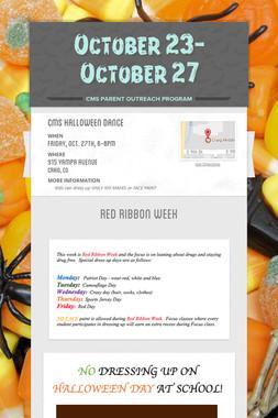 October 23-October 27