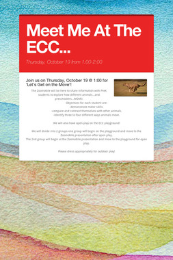 Meet Me At The ECC...