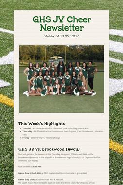 GHS JV Cheer Newsletter