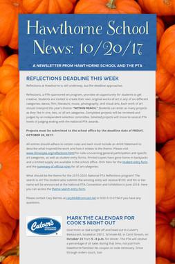 Hawthorne School News: 10/20/17