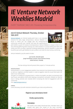 IE Venture Network Weeklies Madrid