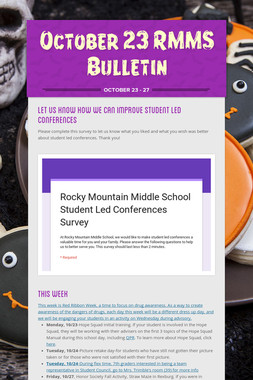 October 23 RMMS Bulletin