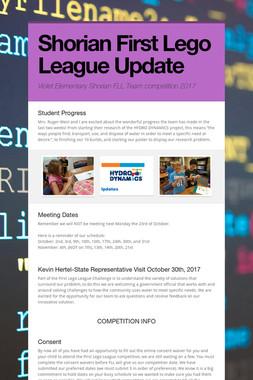 Shorian First Lego League Update
