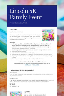 Lincoln 5K Family Event
