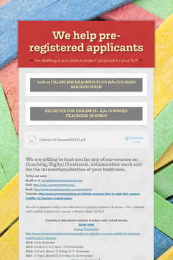 We help pre-registered applicants