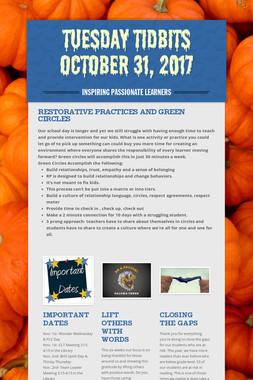 Tuesday Tidbits October 31, 2017