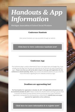 Handouts & App Information