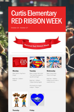 Curtis Elementary RED RIBBON WEEK