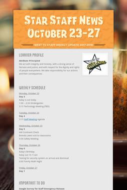 Star Staff News October 23-27