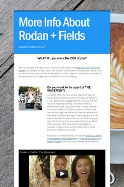 More Info About Rodan + Fields