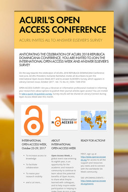 ACURIL'S OPEN ACCESS CONFERENCE