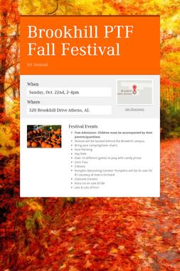 Brookhill PTF Fall Festival