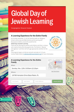 Global Day of Jewish Learning