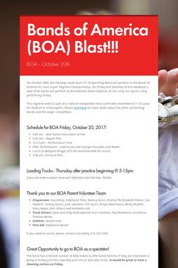 Bands of America (BOA) Blast!!!