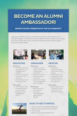 Become an Alumni Ambassador!