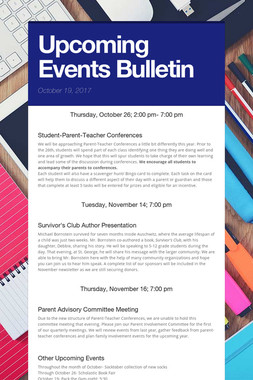 Upcoming Events Bulletin