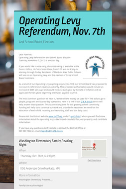 Operating Levy Referendum, Nov. 7th