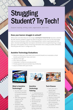 Struggling Student?  Try Tech!