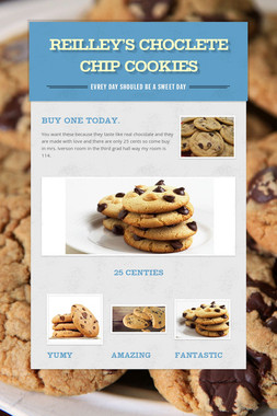 Reilley's choclete chip cookies