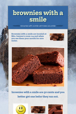 brownies with a smile