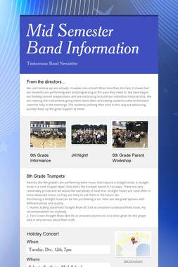 Mid Semester Band Information